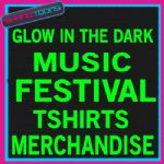 MUSIC FESTIVAL MERCHANDISE GLOW IN THE DARK TSHIRTS X 100 MIXED SIZES - 150807943270